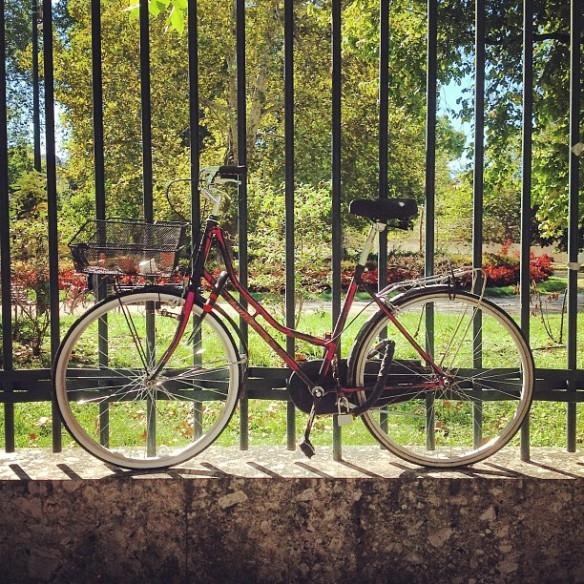 """Il pensiero della bici: """"giornata troppo bella per rimanere incatenata fuori dal parco"""""""